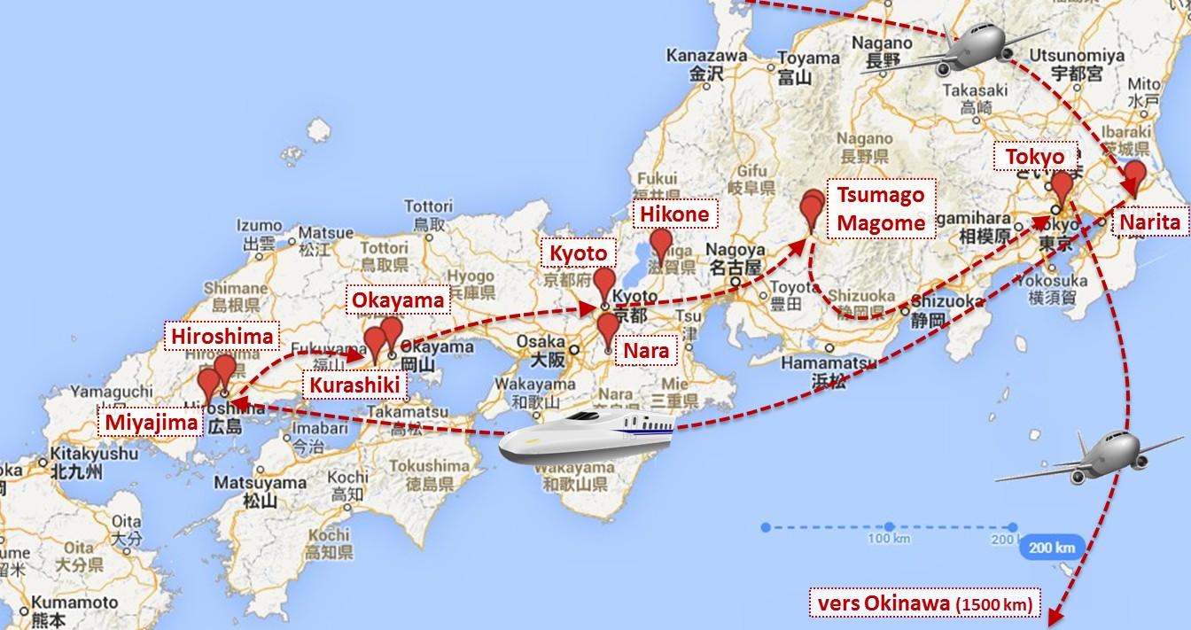Infos Sur Honshu Japon Carte Arts Et Voyages